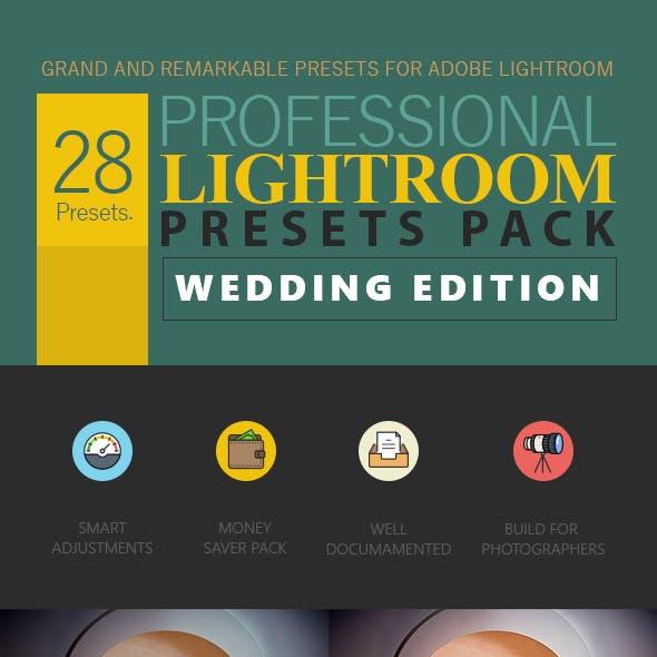 Wedding Edition - 28 Professional Lightroom Preset