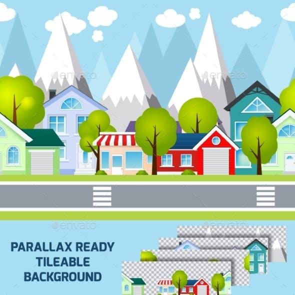 Provincial Town Landscape Parallax Ready