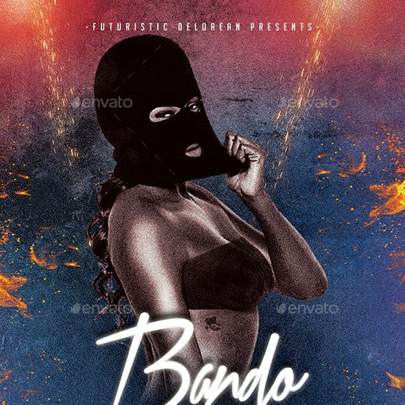 Bando 2   Futuristic Dope Movie Flyer PSD Template