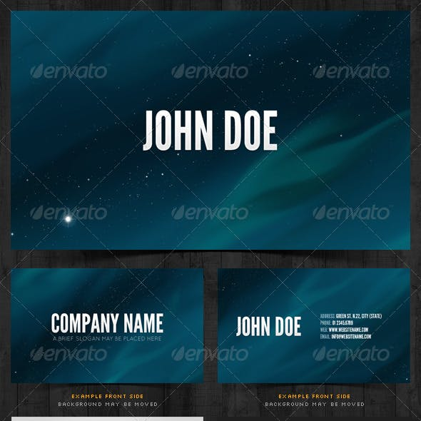 Starry Night Sky - Business Card