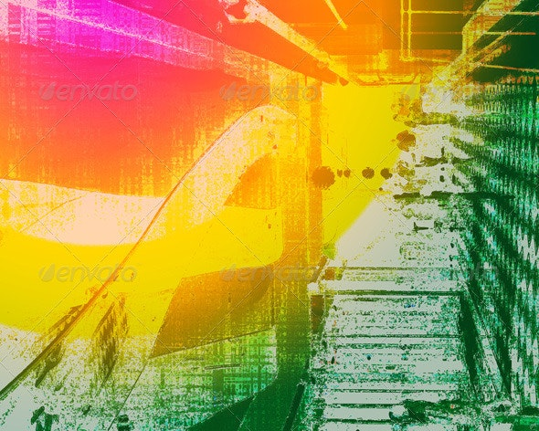 Colorful Grunge Background - Backgrounds Graphics
