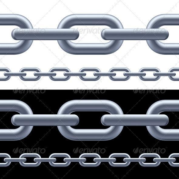 Realistic gray chain - Characters Vectors