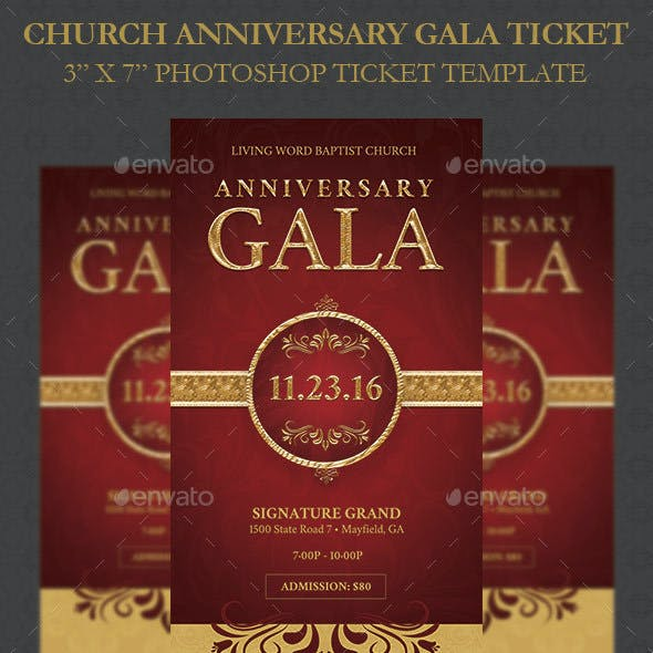 Church Anniversary Gala Ticket