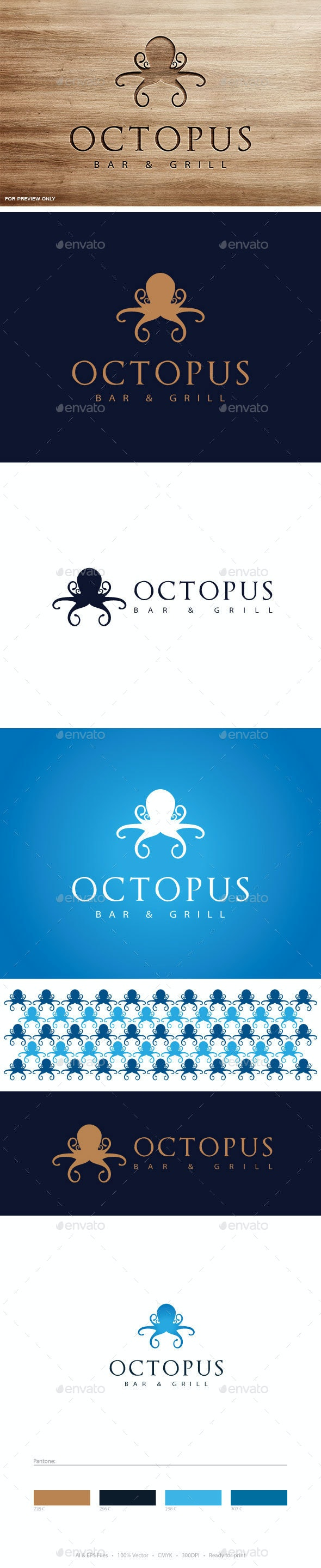 Octopus Logo Template - Animals Logo Templates