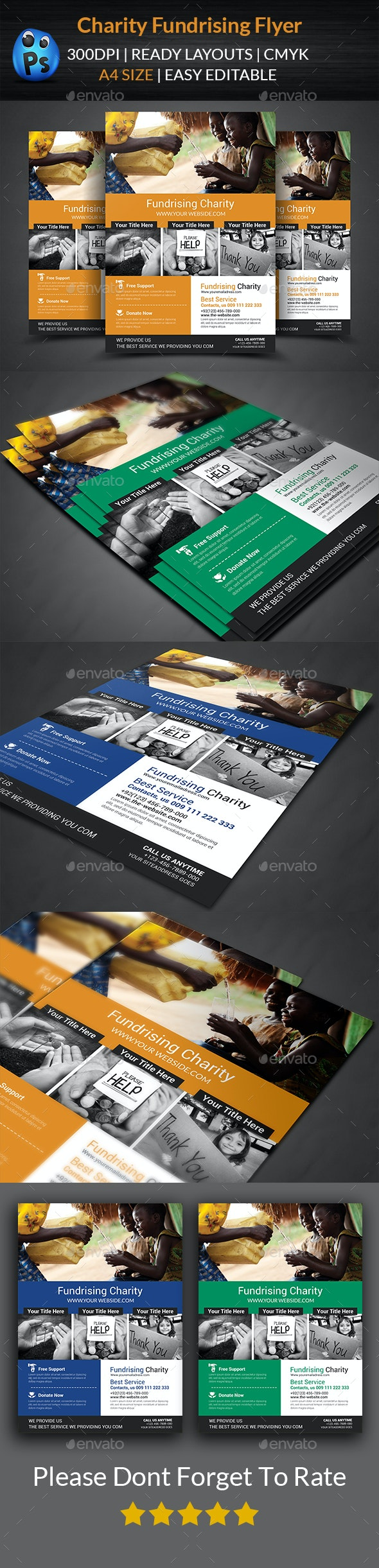 Charity Fundraisers Flyer Templates - Corporate Flyers