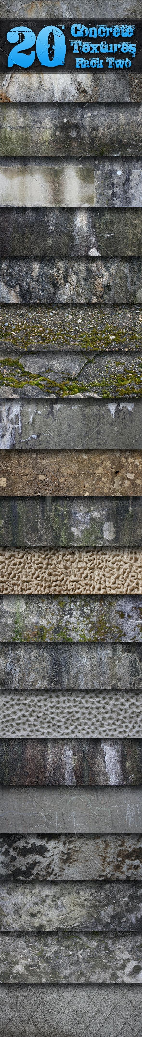 20 Concrete Textures - Pack Two  - Concrete Textures