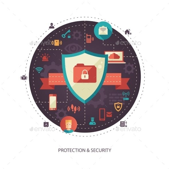 Protection and Security Business Illustration