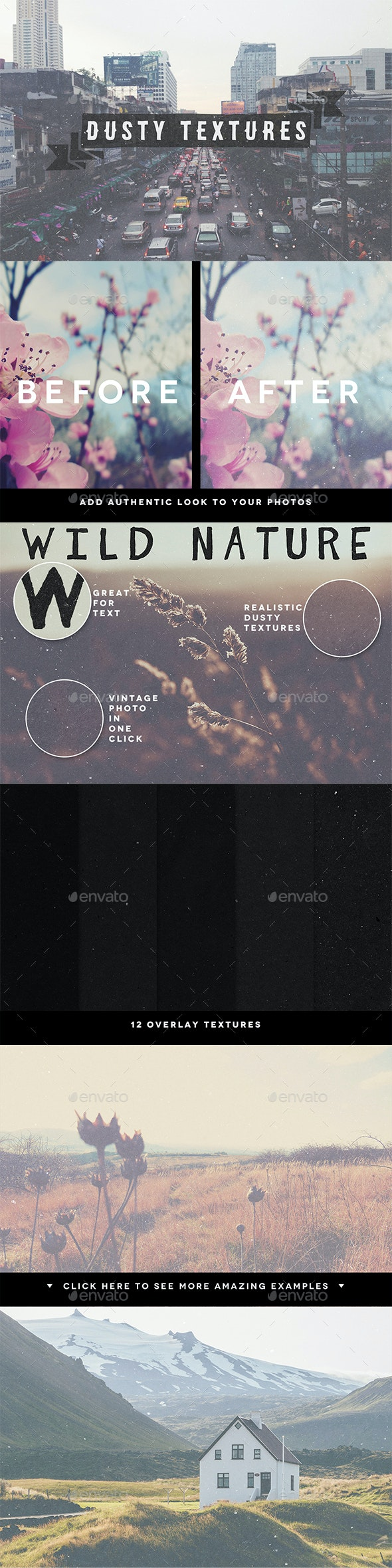 Dusty Overlay Textures - Art Textures