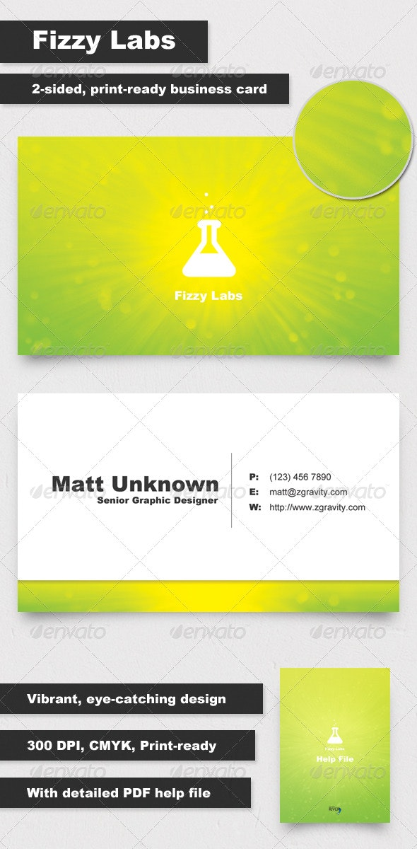 Fizzy Labs Business Card - Creative Business Cards