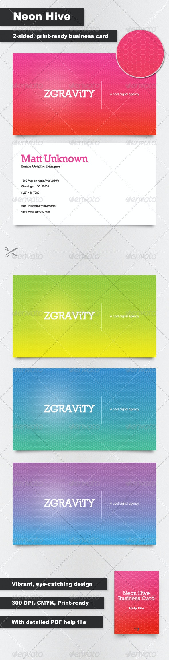 Neon Hive Business Cards - Creative Business Cards