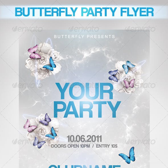 Butterfly Party Flyer