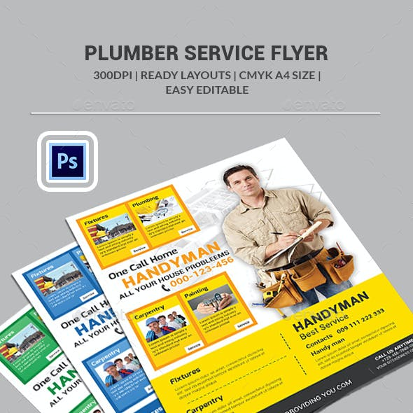 Plumber Service Flyer Templates