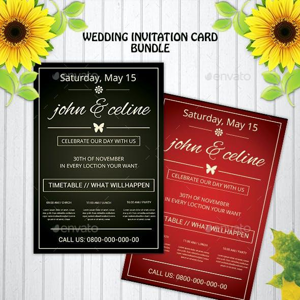 Wedding Invitation PostCards Bundle