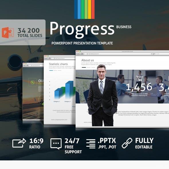 Progress Powerpoint Presentation Template