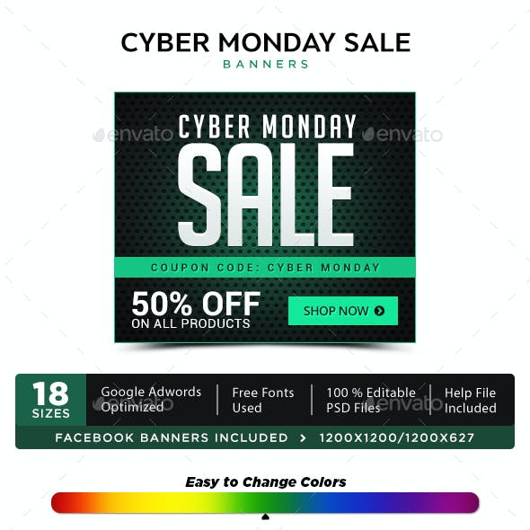 Cyber Monday Sale Banners