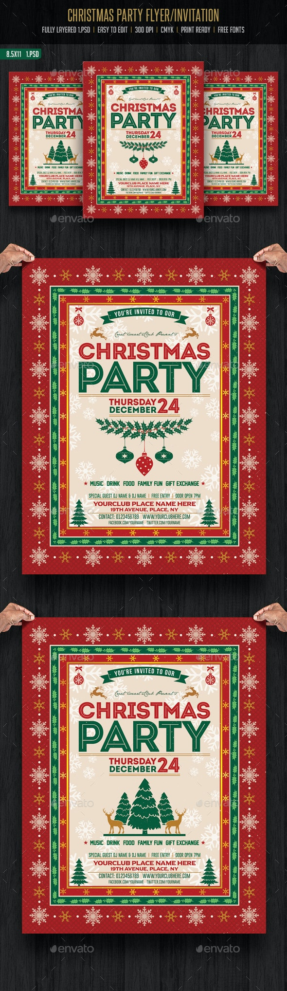 Christmas Party Flyer/ Invitation - Events Flyers