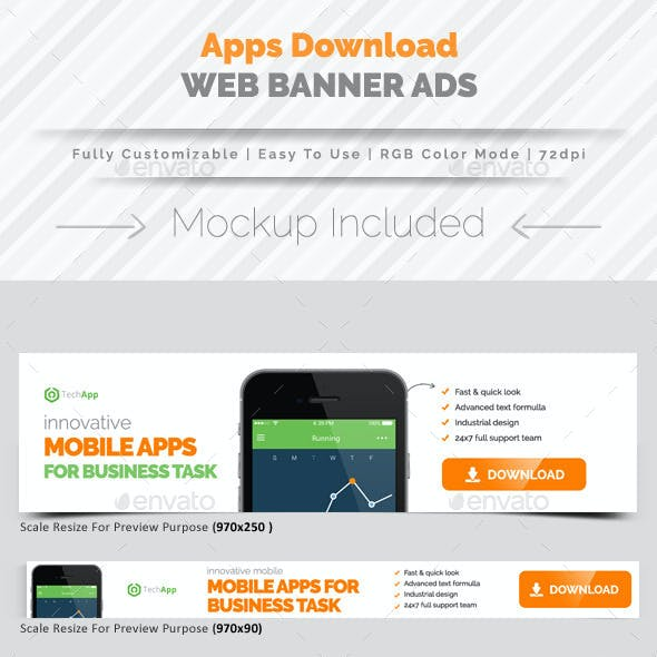 Apps Download Banner Ads