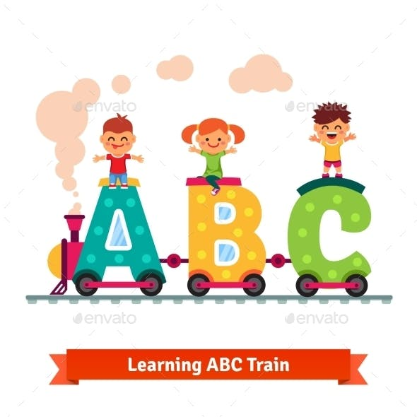 Children Learning Alphabet Concept