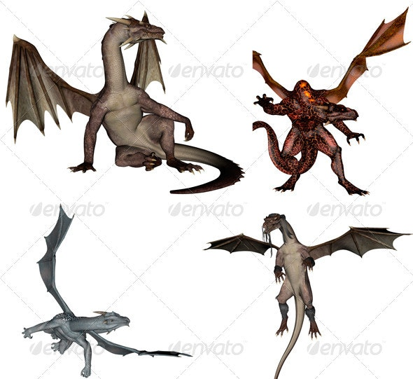 Dragons Pack v.1 - Characters 3D Renders