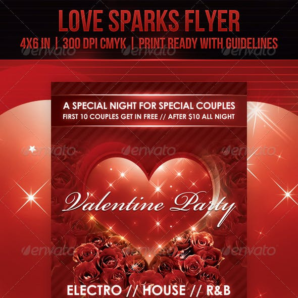 Love Sparks Valentine Flyer