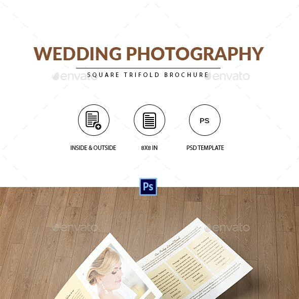 Square Trifold for Wedding Photographer