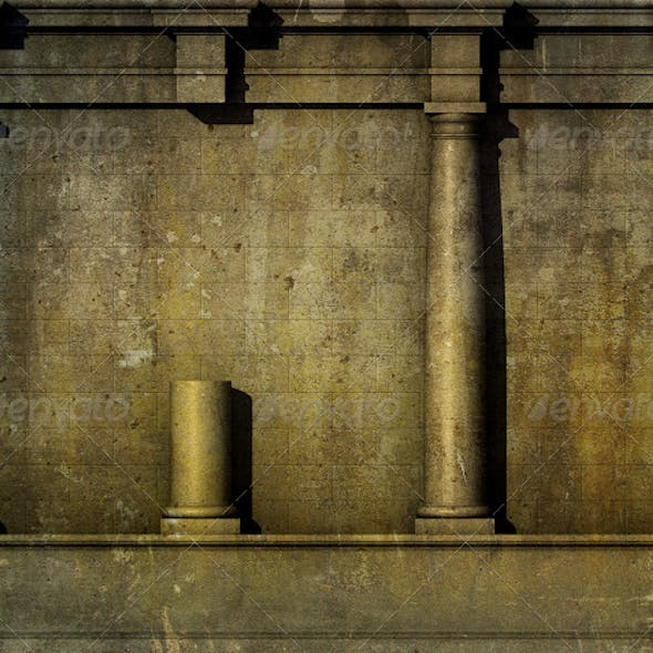 3D Antique Classic Architecture Greek Roman Wall