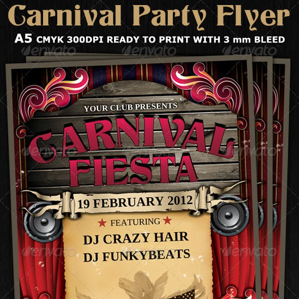 Carnival Club Party Flyer Template