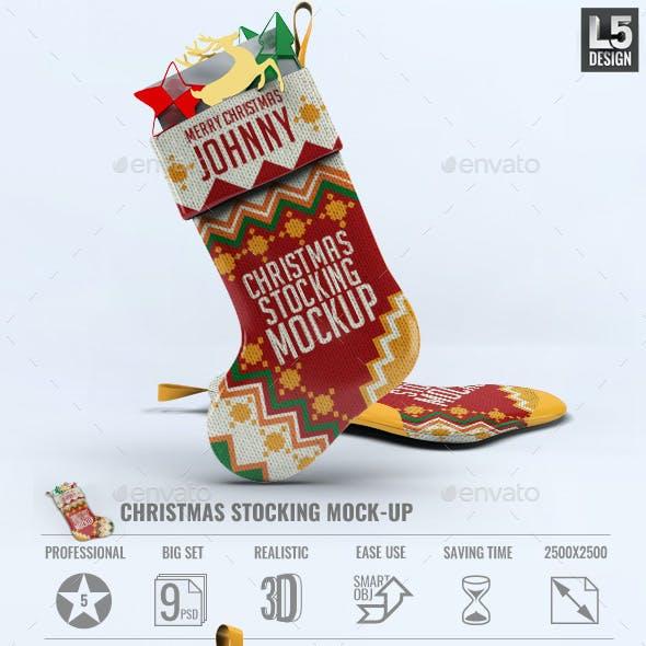 Christmas Stocking Mock-Up