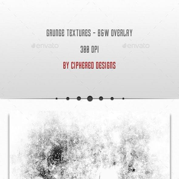 Grunge Textures - Black & White Overlay