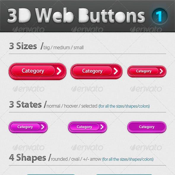 3D Web Buttons - Pack 1
