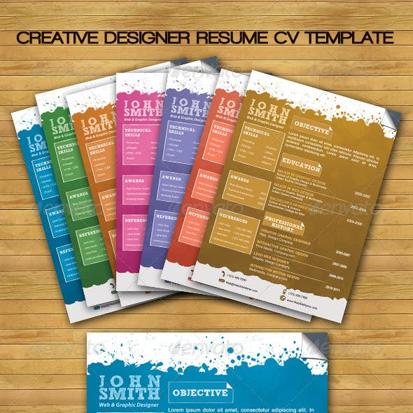 Creative Designer Resume CV Template