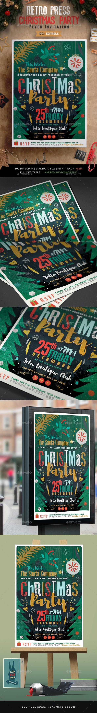 Retro Press Christmas Flyer II - Events Flyers