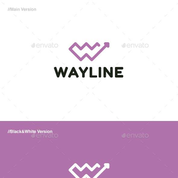 Way Line Letter W Logo