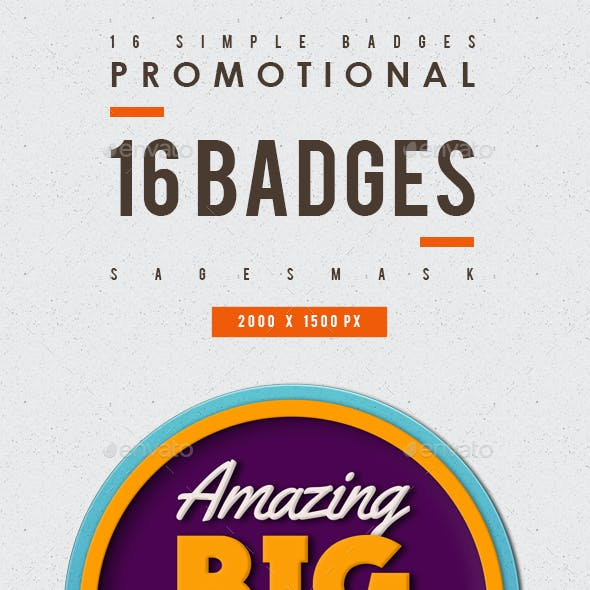 16 Simple Badges promotional