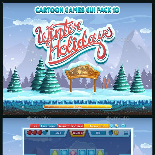 Winter holidays - GUI pack 10