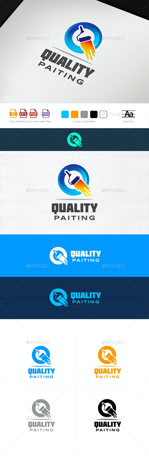 Quality Painting Logo Template - Letters Logo Templates