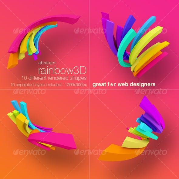 Ranibow 3D renders pack.