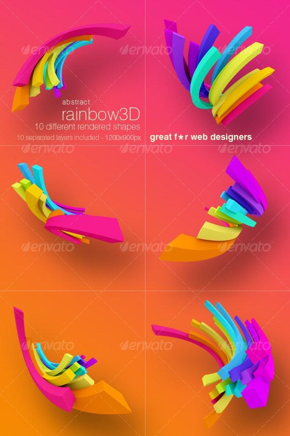 Ranibow 3D renders pack. - Miscellaneous 3D Renders