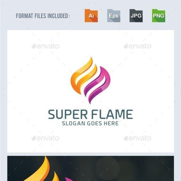 Super Flame Logo Template