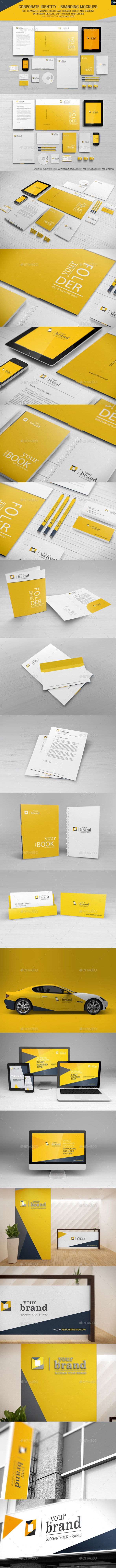 Corporate Identity - Branding Mockups - Stationery Print