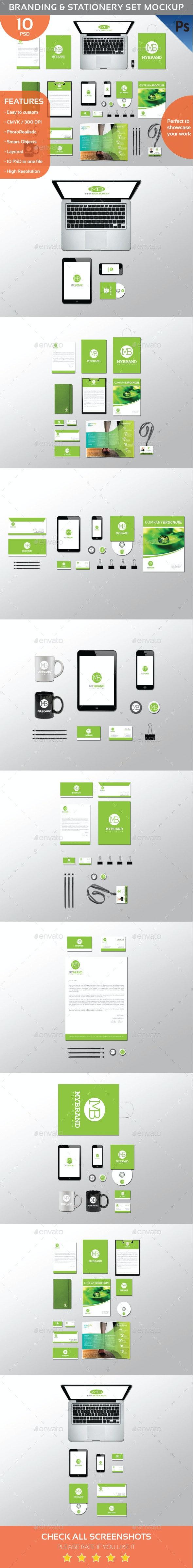 Branding & Identity Mockup Set - Stationery Print