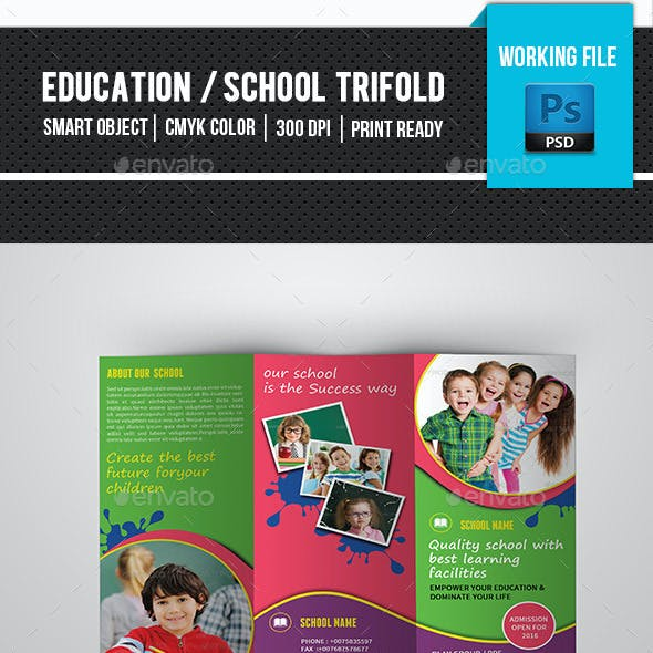 Kids School Trifold Brochure-V269