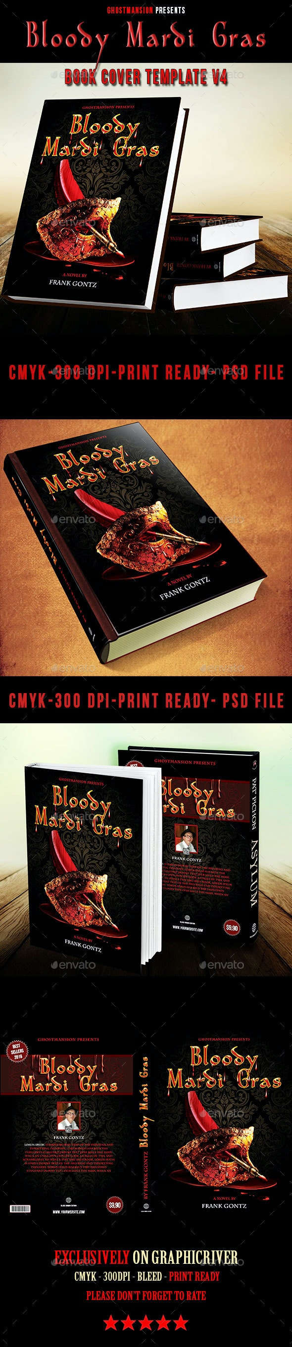 Book Cover Template PSD V4 - Miscellaneous Events