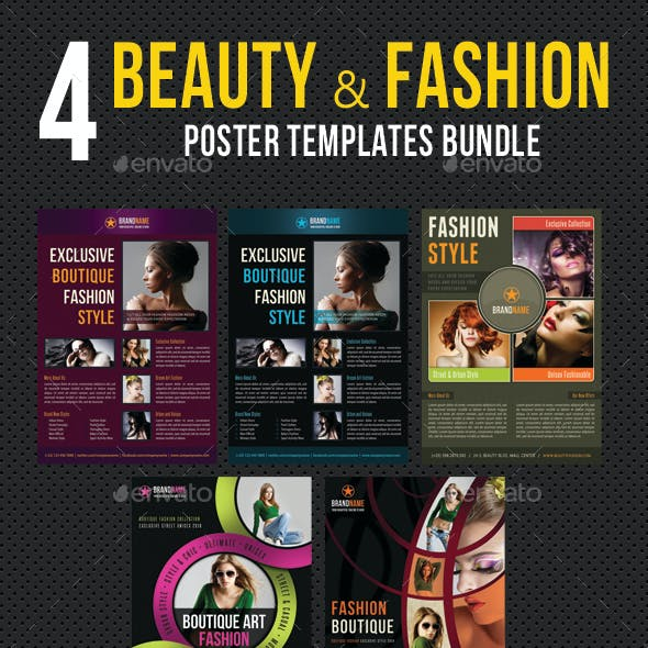 4 in 1 Beauty and Fashion Poster Bundle 03