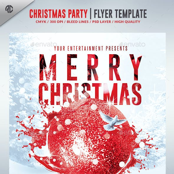 Christmas Party 2016   Psd Flyer Template