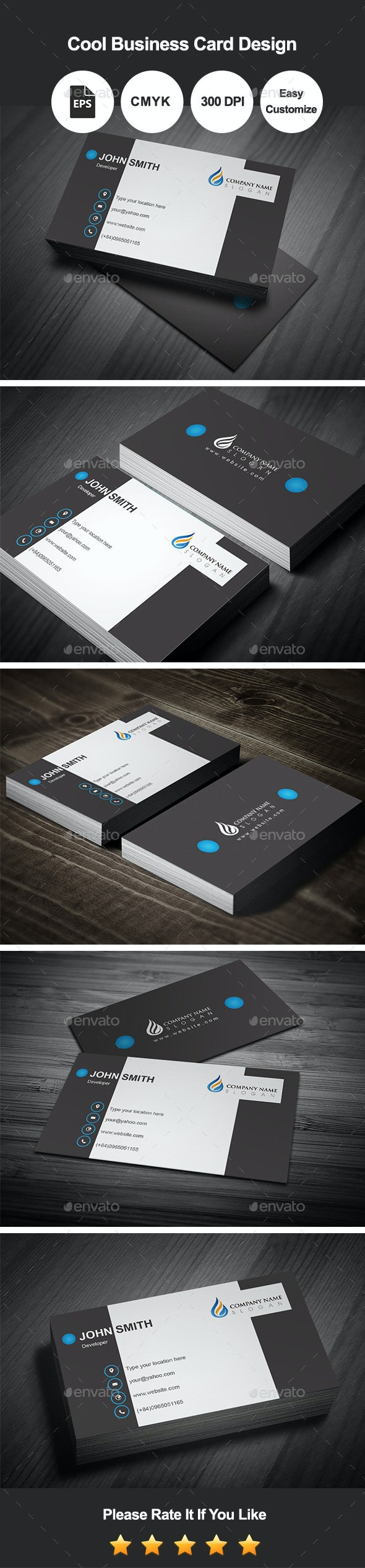Cool Business Card Design - Corporate Business Cards