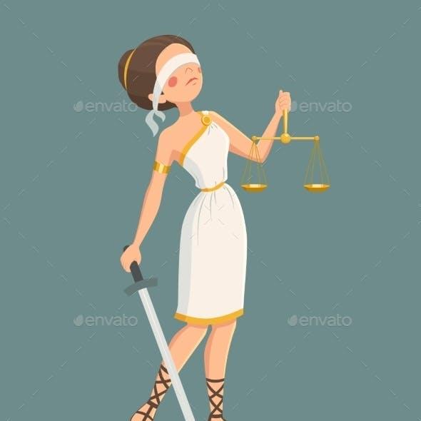 Justice Lady Illustration