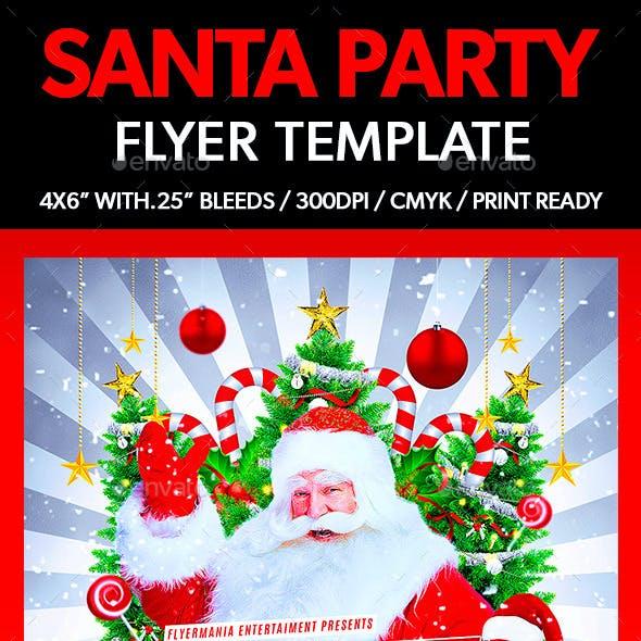 Santa Party Flyer Template