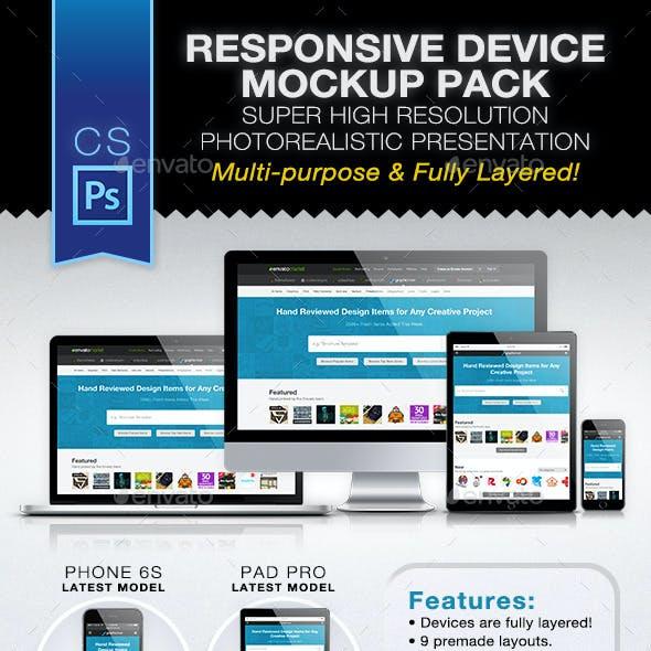 Responsive Device Mockup Pack
