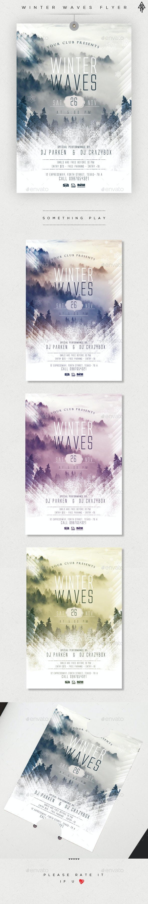 Winter Wave Flyer - Events Flyers
